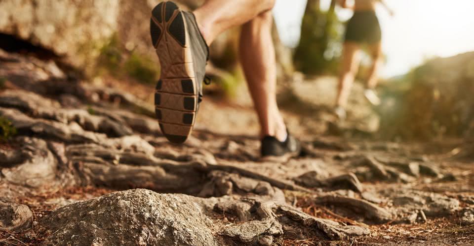 Friends Running on Trail